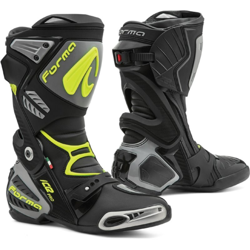 [FORMA] ICE PRO RACING BOOTS (블랙-그레이-옐로우)